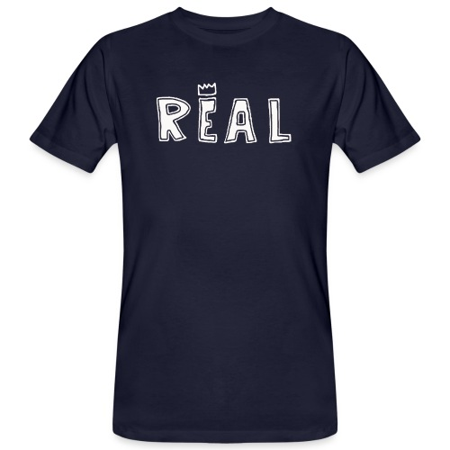 REAL (White) - Mannen Bio-T-shirt