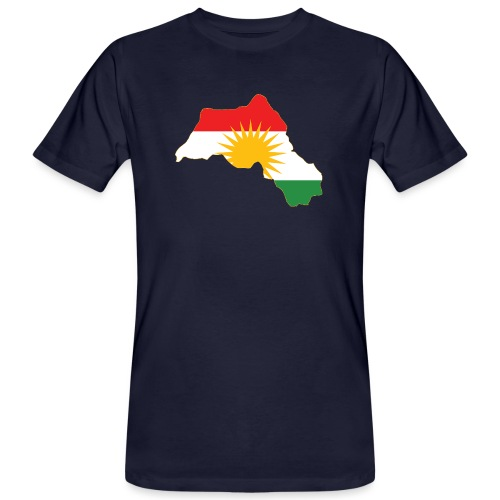 Kurdistan Flag Map - Männer Bio-T-Shirt