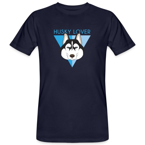 Husky - Blue - T-shirt ecologica da uomo