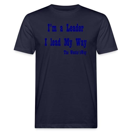 I lead My Way Blue - Ekologiczna koszulka męska