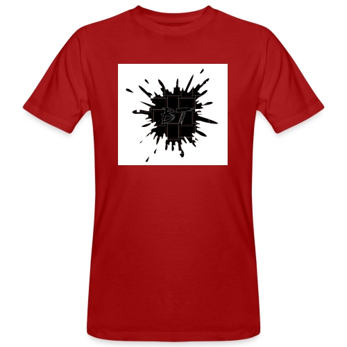 Blacktuber Splash Logo - Mannen Bio-T-shirt