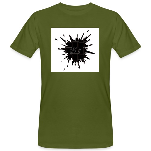 Blacktuber Splash Logo - Mannen Bio-T-shirt