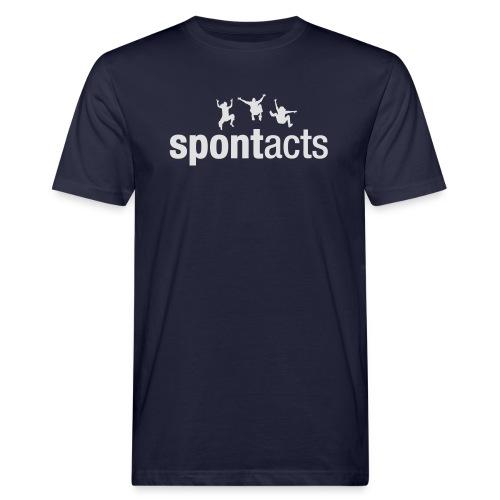 spontacts_Logo_weiss - Männer Bio-T-Shirt