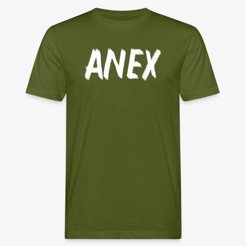 V-neck T-Shirt Anex white logo - Men's Organic T-Shirt