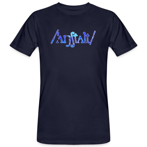 /'angstalt/ logo gerastert (blau/weiss) - Männer Bio-T-Shirt