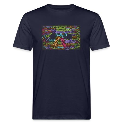 wordcloud Cassettes- WA - Men's Organic T-Shirt