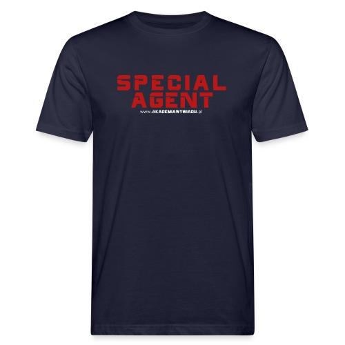 Emblemat Special Agent marki Akademia Wywiadu™ - Ekologiczna koszulka męska