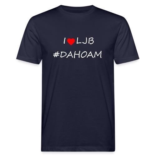 I ❤️ LJB #DAHOAM - Männer Bio-T-Shirt