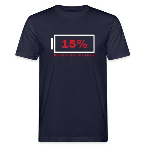 Batterie Faible - T-shirt bio Homme