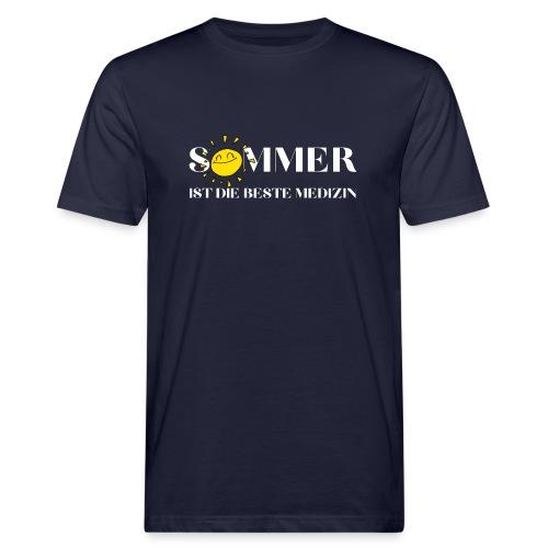 Sommer ist die beste Medizin - Männer Bio-T-Shirt