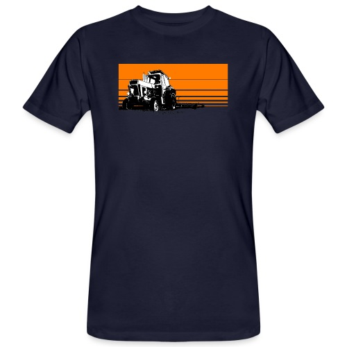 Sunset tractor orange - T-shirt ecologica da uomo