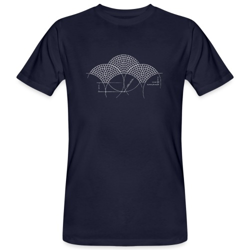 European Fan White - Mannen Bio-T-shirt