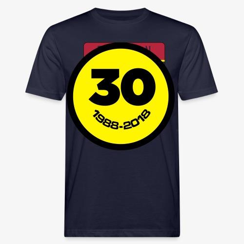 30 Jaar Belgian New Beat Smiley - Mannen Bio-T-shirt