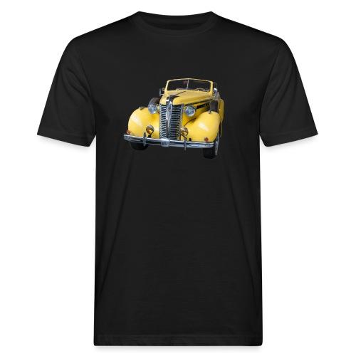 Gele klassieke auto1920 - Mannen Bio-T-shirt
