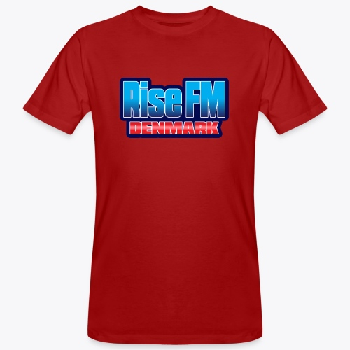 Rise FM Denmark Text Only Logo - Men's Organic T-Shirt