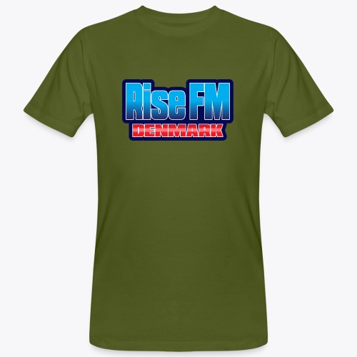 Rise FM Denmark Text Only Logo - Men's Organic T-Shirt