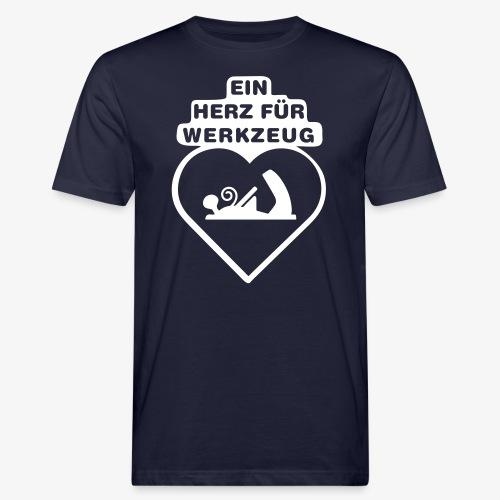 ein herz fuer werkzeug ho - Männer Bio-T-Shirt