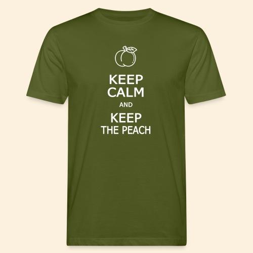 Keep calm and keep the peach - T-shirt bio Homme