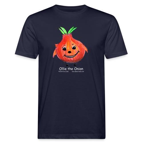 mens black T-shirt Ollie the Onion - Men's Organic T-Shirt