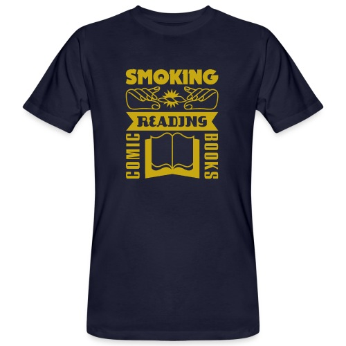 smoke&read_darkyellow - Männer Bio-T-Shirt