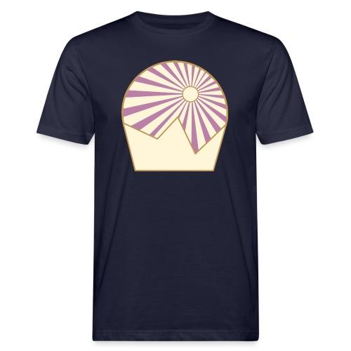 Logo Sun and Mountain - Männer Bio-T-Shirt