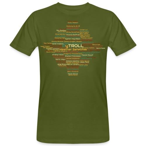 Pytroll wordcloud march 2019 - Men's Organic T-Shirt