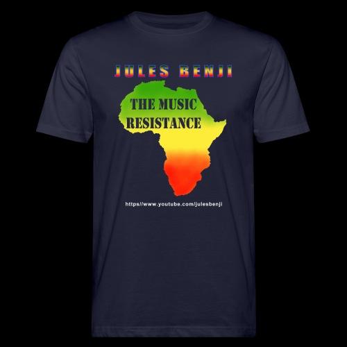 JULES BENJI & MUSIC RESISTANCE africa design - Men's Organic T-Shirt