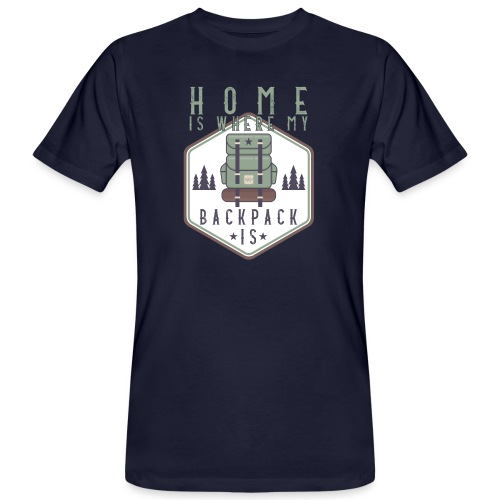 Home Is Where My Backpack Is - Männer Bio-T-Shirt