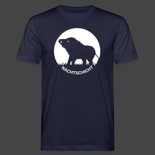 """""""Nachtschicht bei Schweinesonne""""-Shirt für Jäger - Männer Bio-T-Shirt"""