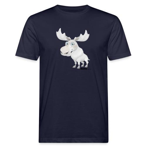 Albino Elch - Männer Bio-T-Shirt