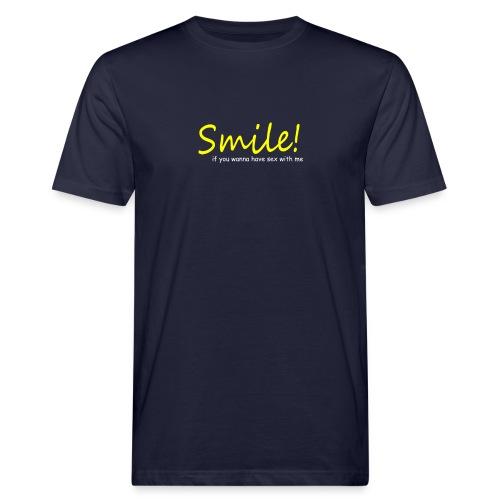 Smile for Sex - Männer Bio-T-Shirt