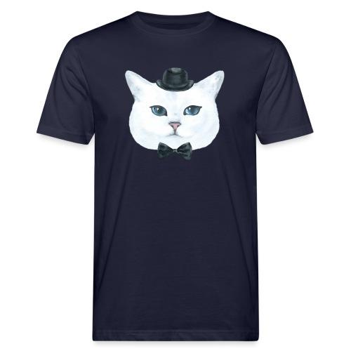Gatto bianco - T-shirt ecologica da uomo