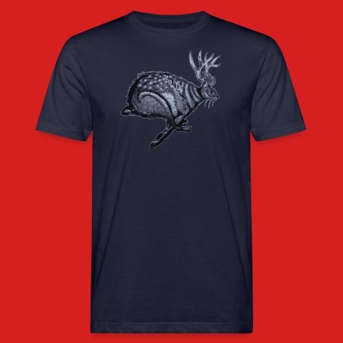 Fabel Hirsch Hase - Männer Bio-T-Shirt