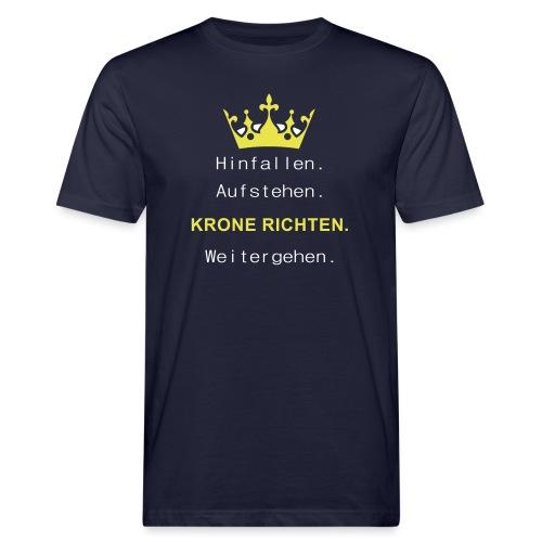 Krone Richten - Männer Bio-T-Shirt