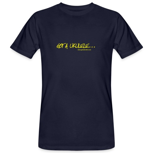 Official Got A Ukulele website t shirt design - Men's Organic T-Shirt