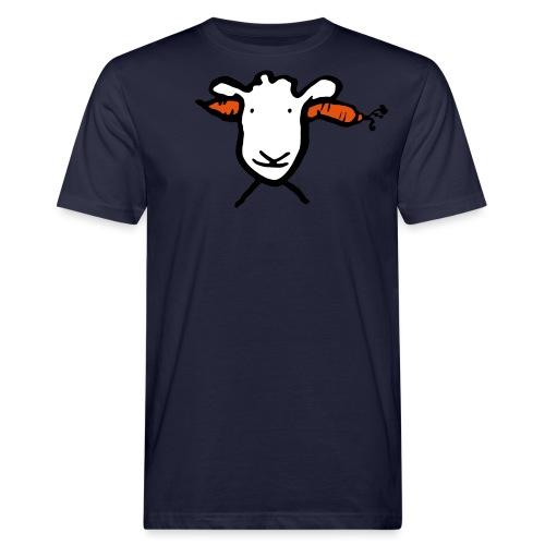 Krasses Möhren Schaf - Männer Bio-T-Shirt