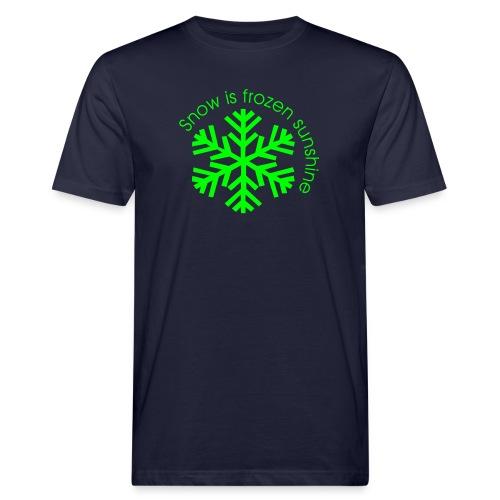 snow is frozen sunshine - Männer Bio-T-Shirt