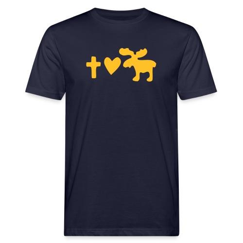 Glaube, Liebe, Elch! - Männer Bio-T-Shirt
