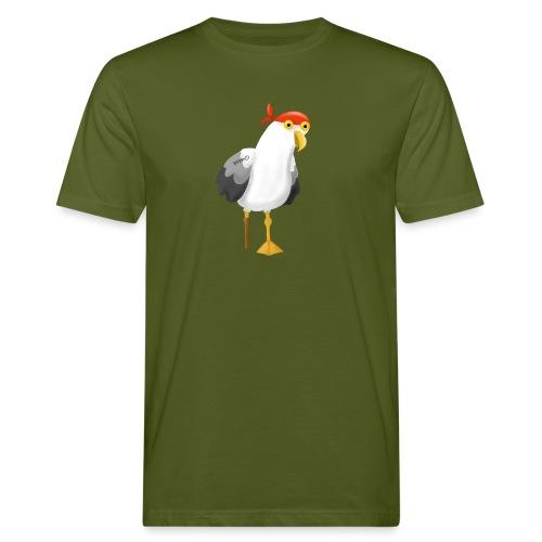 Möwe Pirat Seeräuber Kapitän - Männer Bio-T-Shirt