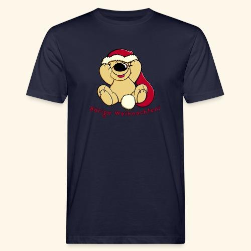 Bärige Weihnachten - Männer Bio-T-Shirt