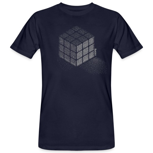 Rubik's Cube Stippling Dotted Cube - Men's Organic T-Shirt