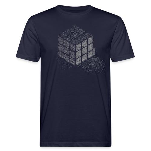Rubik's Cube Stippling Dotted Cube - Men's Organic T-Shirt