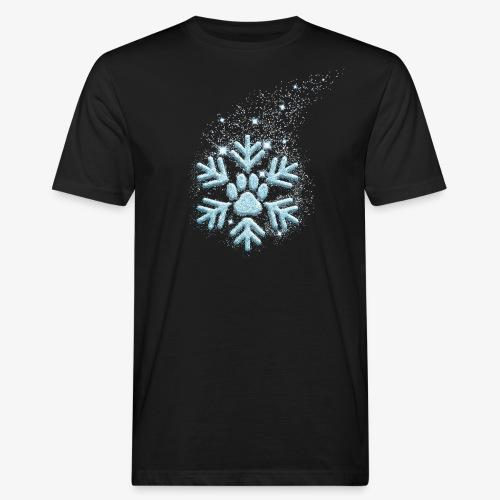 dog paw snowflake - Männer Bio-T-Shirt