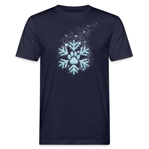 Vorschau: dog paw snowflake - Männer Bio-T-Shirt