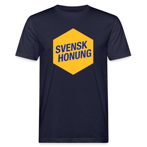 Svensk honung Hexagon Gul/Blå - Ekologisk T-shirt herr