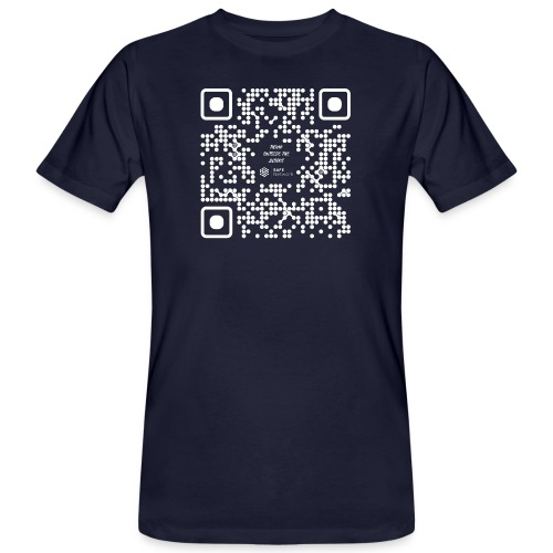 QR The New Internet Should not Be Blockchain Based W - Men's Organic T-Shirt