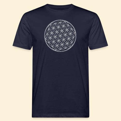 Lebensblume - Männer Bio-T-Shirt