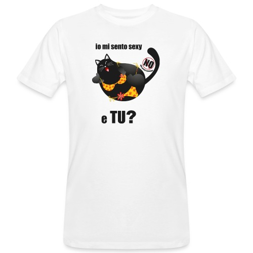 gattasexy - T-shirt ecologica da uomo