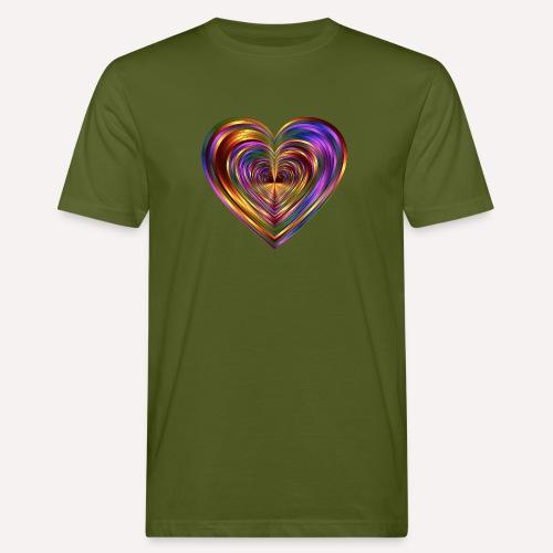 Colorful Love Heart Print T-shirts And Apparel - Men's Organic T-Shirt