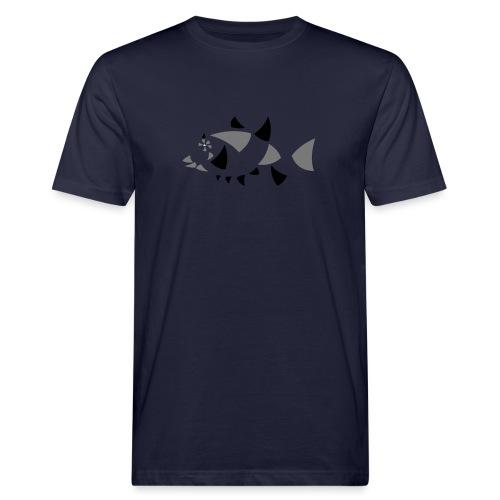 Fisch, abstrakt - Männer Bio-T-Shirt